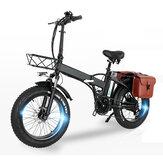 [EU Direct] CMACEWHEEL GW20 48V 15Ah 750W 20in Bicicleta Elétrica Dobrável com Bolsa 30-45km / h Velocidade 80-100KM Milhagem Bicicleta Elétrica E Bicicleta