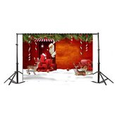 7x5ft Christmas Elk Gift Santa Claus Photography Backdrop Studio Prop Background
