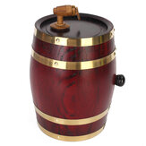 Weikeduo Vtc-808 Wooden Alcohol Barrel 1.5L/3L/5L Rum Brewing Container Phnom Penh Decoration-Red Oak