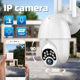 Guudgo 1080P 10 LED 5X Zoom Upgraded Four-antenna HD Outdoor PTZ IP Camera Two Way Audio Voice Alarm Wifi Camera Auto Waterproof Night Vision  Surveillance