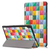 Tri-Fold Печатный планшет Чехол Крышка для планшета Lenovo Tab E10 - Cubicity