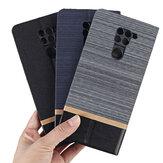 Bakeey Flip Stand Motif de toile de couche d'acier avec protecteur d'objectif Etui de protection complet en cuir PU pour Xiaomi Redmi Note 9/Redmi 10X 4G Non original