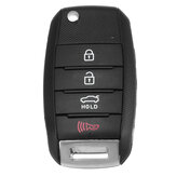 4 Buttons Remote Key Fob Case Shell For KIA Sorento Soul Optima Carens