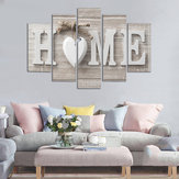 5 Pannelli Love HOME Wall Art Stampa Immagini Stampe su tela Wall Art Unframed For Home Decorations