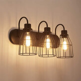 3-Lamp Industrial Barn Wall Mount Lamp Retro Metal Sconce Light Fixture Without Bulb
