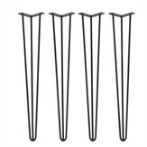16'' Set of 4 Industrial Vintage Table Legs Coffee Bench 3 Prong Iron Hairpin Legs