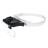 LEDヘッドバンド拡大鏡メガネ交換可能5交換レンズ1.0X / 1.5X / 2.0X / 2.5X / 3.5X拡大鏡ヘッドライト歯科ルーペ
