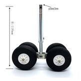 2-osiowe 4-kołowe amortyzujące podwozie 3 mm / 4 mm z kątem skośnym do stałego skrzydła Boeing RC Airplane