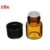 10Pcs Small Amber vidro essencial frasco para o perfume 1ml
