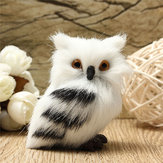 Owl White Black Furry Kerst Ornament Decoratie Versiering Simulatie H2.75