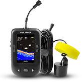 ERCHANG XF02-C 2,8 Zoll LCD Fischfinder Sonar 100 m Tiefe Entfernung Seefischerkennung Professioneller Sonarsensor