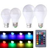 9W E27 B22 função de memória RGB 16 cores mudando LED lâmpada de luz + Controle Remoto AC85-265V