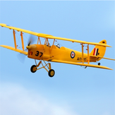 Dynam Tiger Moth V2 1270mm Wingspan EPO Biplane Warbird RC Airplane PNP With Upgraded Power System