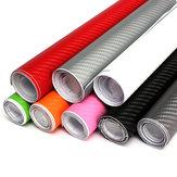 2Mx50CM DIY Glanzende 3D Koolstofvezel Vinyl Wrap Roll Film Sticker 8 kleuren voor auto voertuig