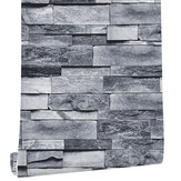Wallpaper Bricks Slate Textured 3D Effect Grey Brick Tones Wall Paper 45cmx6m
