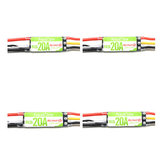 4X Racerstar RS20A 20A BLHELI_S OPTO 2-4S ESC Suporte Oneshot42 Multishot para FPV Racing