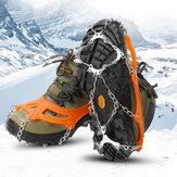 AUTO 12 fogú jég fogantyú rozsdamentes acél hegesztő lánc krampuszok jégpapír csúszásmentes cipőhuzat táborozáshoz hegymászás hó síelés