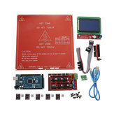 3D Printer Kit RAMPS 1.4+Arduino Mega 2560+DRV8825+12864LCD+PCB Cama Caliente MK2B