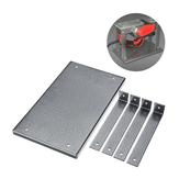 Placa de alumínio da inserção da tabela do router de 285mm x170mm para a plaina da gravura do Woodworking