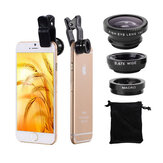 Bakeey Universal Clip Camera Lens 0.67 Wide Angel + 180 degrés Fish Eye + Macro pour tablette de téléphone portable