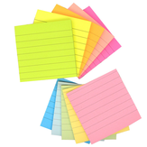5 Pcs Self-Stick Notes Sticky Notes Colorful Bookmark Candy-colored Striped Horizontal Note Sticky Note