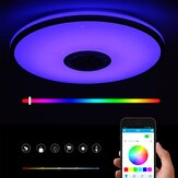 40CM bluetooth WiFi LED Ceiling Light RGB APP Music Speaker Dimmable Lamp with Remote Control 110-245V