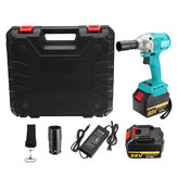88V 15000mAh Wlectric Wrench 2 Batteries 1 Charger Brushless Cordless Impact Wrench Tools With Case