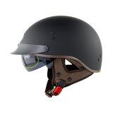 Soman sm202 Vintage retro yarım yüz Motosiklet kask elektrikli scooter sürme cruise güvenlik kaskları ile iç güneşlik düz renk