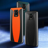 Bakeey for Xiaomi Redmi Note 9S / Redmi Note 9 Pro Case Sports Car Pattern Design Carbon Fiber Leather Protective Case Non-original