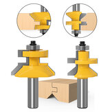 2pcs 12mm 1/2 inch Shank 120 Degree Router Bit Milling Cutter Frame Grooving Tenon Woodworking Engraving Wood Milling Set