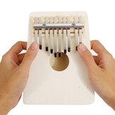 10 Tuşları Kalimba Ahşap Başparmak Piyano Parmak Klavye Enstrüman w / Tuning Hammer