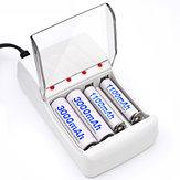 パロC707 4スロットLEDインジケータAA / AAA用スマート充電器NiCd NiMh充電池