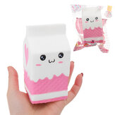 Squishy Jumbo Pink Milk Bottle Box 11cm Langsom Rising Soft Indsamling Gave Decor Toy