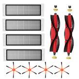 10stk udskiftninger til XIAOMI Roborock S6 S55 støvsuger Dele Tilbehør Sidebørster * 4 HEPA-filtre * 4 hovedbørster * 2