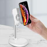 Bakeey Portable 180 Degree Angle Adjustable Anti-slip Heat Dissipation Metal Desktop Stand Tablet Phone Holder Commodity Shelf for iPhone below 12.9 inch