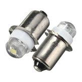 2ピースP13.5S LED懐中電灯交換用電球0.5W 100LMトーチワークライトランプDC 6Vピュアホワイト