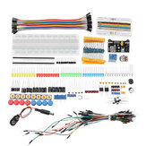 Electronic Components Junior Kit With Resistor Breadboard Power Supply Module For  With Plastic Box Package