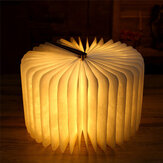 Inductive Book Light Wooden Page Grain Creative Night Light W/ USB Portable Gift