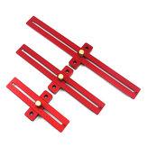 アルミニウム合金170/270/370mmスケール測定スクライビングルーラー木工T型穴ルーラーマーキングツール