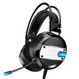 YoBo A10 Gaming Headset Head-Mounted Desktop Computer Notebook With Microphone 7.1 Channel Wired USB Interface Black blue