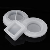 Silicone Mold Round Square Ashtray Epoxy Resin DIY Making Mould Handmade Craft