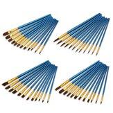12 Stück Malbürste Perlblau Zeichenbürste Aquarell Acryl Pinsel Set Professionelle Ölmalerei Werkzeuge Kunstbedarf