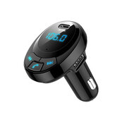 Bakeey Digital Pantalla bluetooth 5.0 QC3.0 PD Dual Type-C Kit manos libres USB Coche Transmisor FM Audio USB Coche Cargador para iPhone 11 Pro Máx. Para Samsung S20 HUAWEI Xiaomi Redmi K30