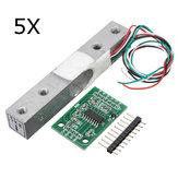 5Pcs 5KG Small Scale Load Cell Wiegen Drucksensor mit A / D HX711AD Adapter