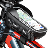 WEST BIKING 6inch Bicycle Front Frame Bag Waterproof Bike Phone Mount Bag Touch Screen Sun Visor Top Tube Handlebar Bag