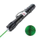 009 Verde Laser Caneta de ponteiro Long Shots PPT cobrável durável Laser Página Ajustar luz de caneta com clipe de caneta