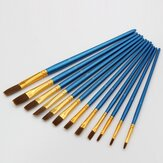 12Pcs Painting Brush Pearl Blue Drawing Brush Watercolor Acrylic Brush Set Professional Oil Painting Tools Art Supplies