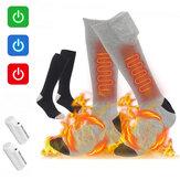 Calefacción eléctrica ajustable de 3 velocidades 4000mAh calcetines 70 70 Calefacción inteligente Calentamiento Transpirable Cómodo Largo calcetines