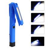 LED+COB300LM4standen Opvouwbare magnetische staart USB oplaadbare zaklamp Werklamp Lichte minitoorts