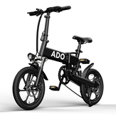 Original              [EU DIRECT] ADO A16 250W 36V 7.8Ah 16 inch Electric Bike 25km/h Max Speed 70Km Mileage 120Kg Max Load Large Frame Releasable Max Speed Electric Bicycle